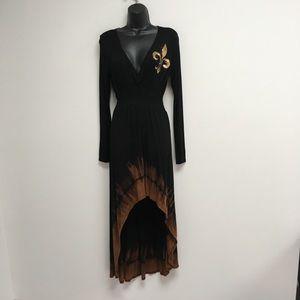 Vocal high low maxi dress size S Black